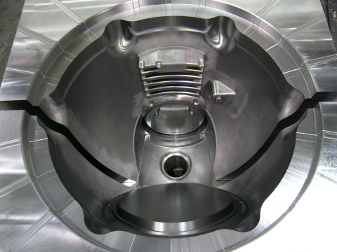 low pressure mold with slides