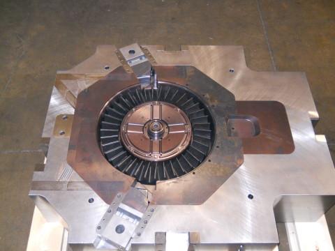 segmented blade inserts 1600 ton machine